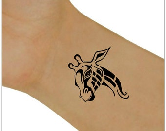 Temporary Tattoo Giraffe Waterproof Ultra Thin Realistic Fake Tattoos