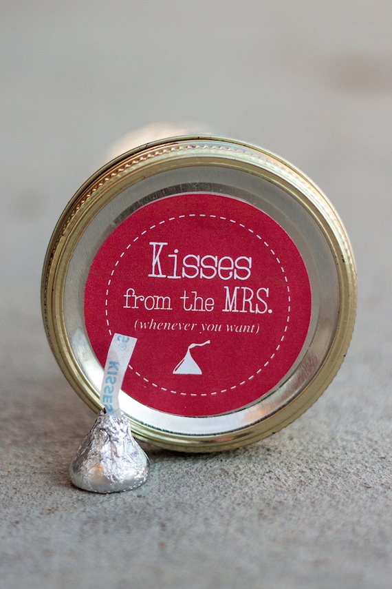 How To Measure Diameter >> Printable mason jar label PDF Valentine's Day gift