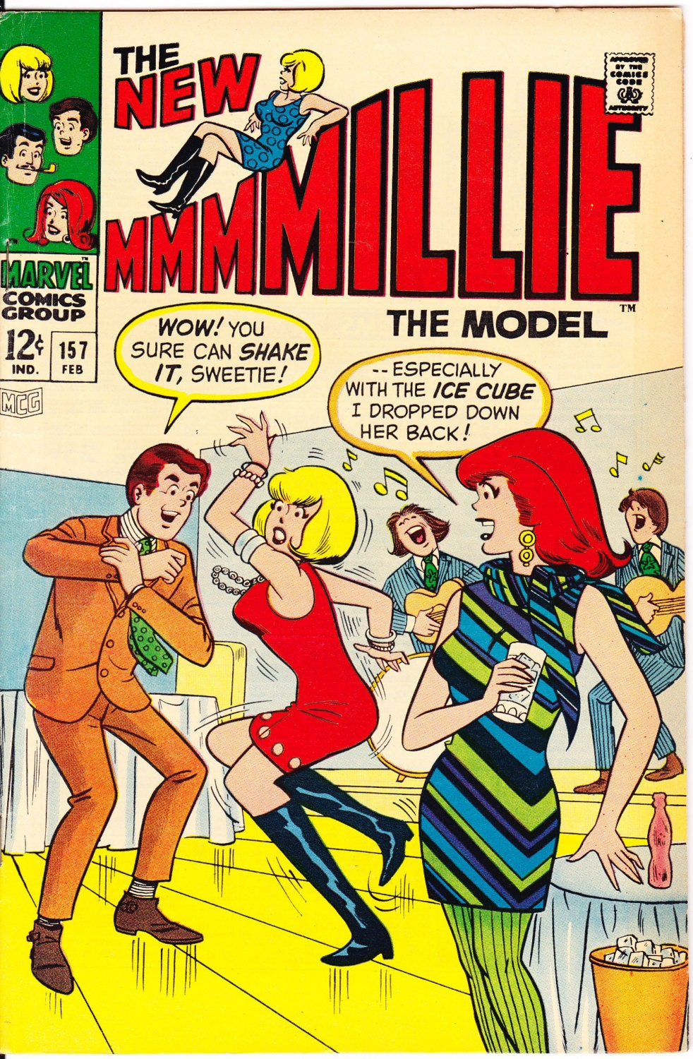 Millie the Model 157 Dancing comic Fashion book Romance