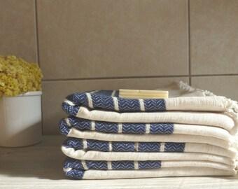 Premium Turkish Towel, Peshtemal, Bath and Beauty, Bath and Body, Hammam,  for him, Christmas gift, Wedding, Natural Linen, spa, yoga, Navy