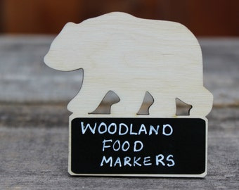 Woodland baby shower, Woodland Theme Birthday Party Supplies, Food Markers,Woodland Themed NON TOXIC Chalkboard Signs, Made in the USA