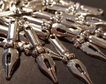 Antiqued Fountain Pen Tip Charms