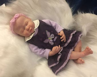 """Spring Fling!! Sleeping Reborn Preemie! A precious reborn baby doll. She was created from the """"Liam"""" kit from Bountiful Baby."""