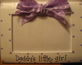 Father's Day photo frame Daddy's little girl Grandpa Mother Grandma hand painted photo picture frame