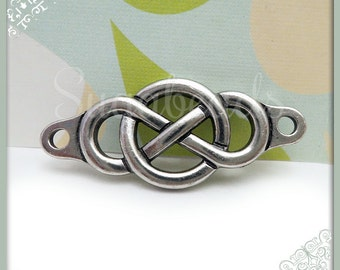 1 Antiqued Silver Infinity Links or Infinity Connector - Tierracast Infinity Connector