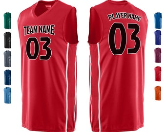 CUSTOM Basketball Team Name and Number Jersey with Custom Name On Back