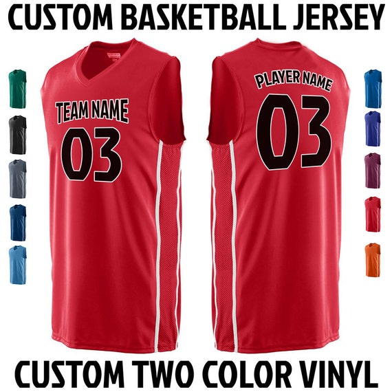 CUSTOM Basketball Team Name and Number Jersey with Custom Name On Back ZqxibiO1C
