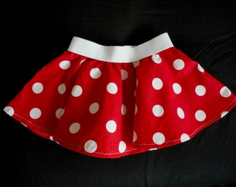 Red polka dot skirt - Polka dot Skirt - Pink or Red  Skirt - newborn-adult skirt - polka dot outfit - polka dot dress - birthday outfit