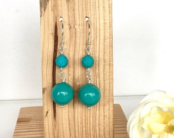 Turquoise Earrings - Turquoise Jewelry - Gemstone Jewellery - Silver Earrings - Blue Earrings - Gemstone Jewellery