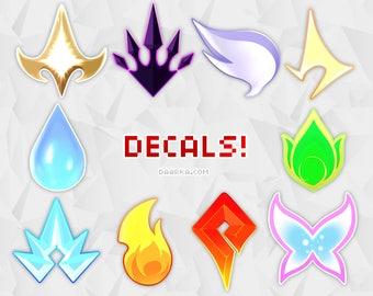 Elementalist Lux Evolutions Decals / Sticker Sheet - League of Legends