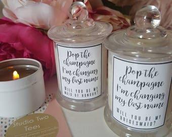 Bridesmaid Proposal Candle, Bridesmaid Candle, Bridesmaid Proposal Gift, Bridesmaid Candle Gift, Bridesmaid Hamper, Bridesmaid Proposal
