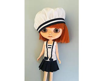 White cotton sailor dress