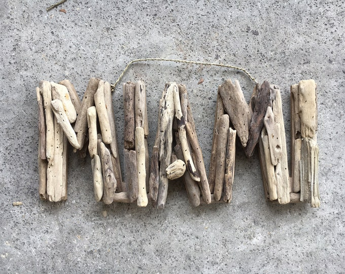 Beach Décor Driftwood MIAMI signs by SEASTYLE