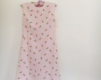 Pink Gingham Vintage Style Dress Size Small