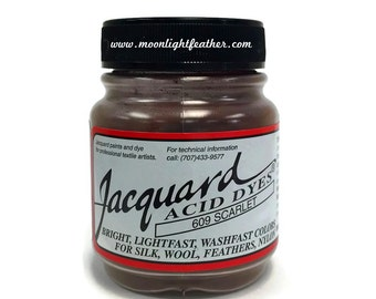 Feather, silk, wool, cashmere and Yarn Dyes - SCARLET Jacquard Acid Dyes - 1/2 Oz : 3715