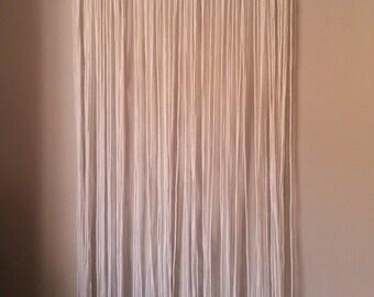 Boho curtain macrame. Macrame hippie tapestry. White cotton curtain. Macramé.Cortina white cotton curtain. Handwoven curtain.