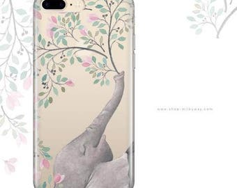 Clear TPU Case Cover for Apple and Samsung Devices - Blowing Flowers