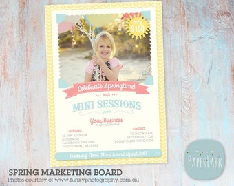 Photography Marketing Board - Spring Mini Sessions template - IE004 - INSTANT DOWNLOAD