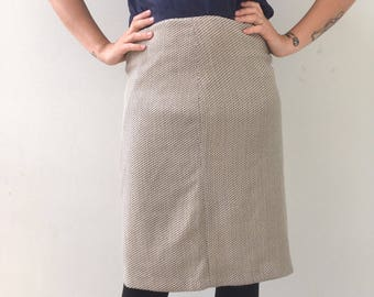 Vintage high waisted skirt by Les Copaines / wool skirt