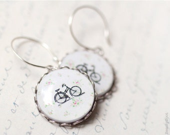 Bicycle earrings, Bike earrings, Mothers day gift earrings, Bike jewelry, Gift for mom Earrings bicycle, Bicycle jewelry, Earring with bikes