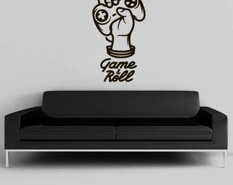 Gamepad Decal/ Wall Sticker/ Controller Wall Decal/ Game Room Decor/ Play Room Decor/ Hardcore Gamer/ Gamer Decal/ Home Decor kau427