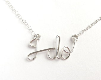 Wedding Day I do Necklace. Sterling Silver I do Necklace.