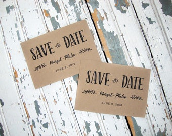 Folk Save the Date Postcard, Rustic Save the Date, Postcards, Simple Save the Date, Boho, Bohemian, Save the Date Cards, Rustic Wedding