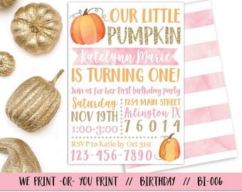 Pumpkin invitation pumpkin birthday invitation fall pumpkin pumpkin 1st birthday invitation our little pumpkin invitation fall birthday invitation pumpkin first filmwisefo