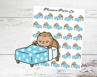 Sloth Planner Stickers // Sleep // Lazy Day // Rest // 014