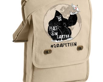 20APETEEN Peace on Earth - Gorilla -  Messenger Bags! - Original Artwork