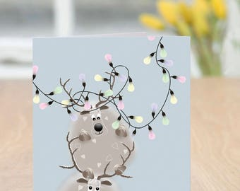 Anywhere Near? - Cute and Quirky Reindeer Christmas Card