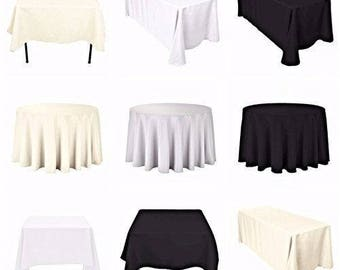 Round Table Cloth Cover Cotton Wedding Birthday Party Dining Decoration 120  Inch
