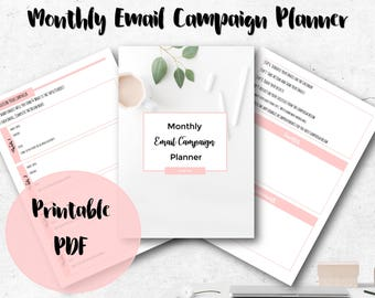 Monthly Email Campaign Planner, Social Media Content Planner, Email Blog Planner,