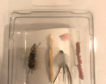 Set of 5 Flies, Flying Fishing, Fly Fishing Lures, Handmade Flies, Fishing Gift, Fly Fishing Flies, Hand Tied Flies, Fly Fishing Gifts