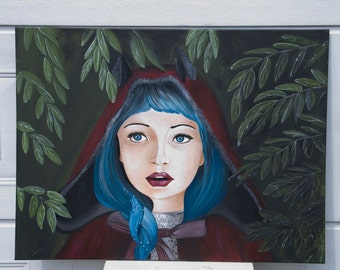 Red riding Hood/Acrylic on canvas