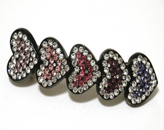 Swarovski barrette, austrian crystal barrette Swarovski elements hair pin