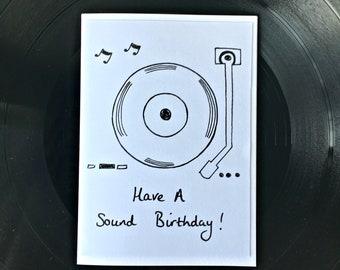 Have A Sound Birthday! Card (White)