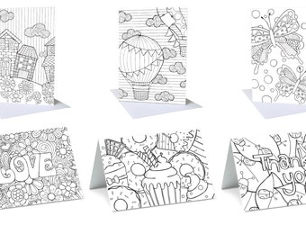 Colour in gift cards (pack6)