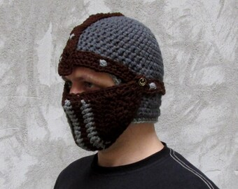 crochet helmet, helmet pattern, crusader hat pattern, fantasy hat pattern, knight helmet, bike hat, nose warmer, snowboard hat, hat pattern
