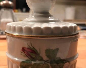 Porcelaine de Paris, French Candy Dish or Cotton Ball container