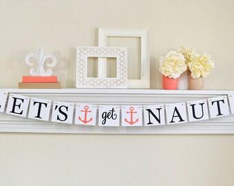 Partie de Bachelorette nautiques, thème nautique Party Decor, décorations de partie de Bachelorette, ancres, corail Party Decor, B236
