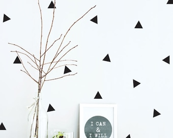 Triangle Wall Decal - Triangle Wall Decal Vinyl - Vinyl Triangle Wall Decal - Black and White Nursery Decor - kids wall sticker