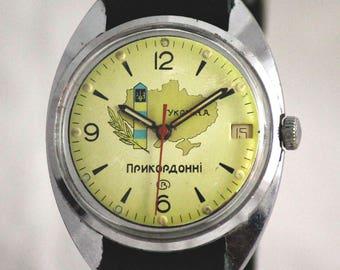 Wostok (Vostok) Rare Vintage Military SERVICED watch POGRANICHNIE  made in USSR