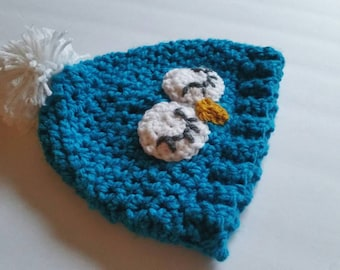 Woodland Creature Owl Pom Beanie Crocheted Toddler Hat