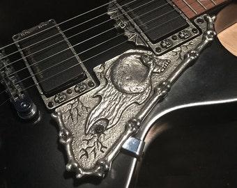 Guitar Parts - PEWTER HARDWARE - SKULL - Gibson Les Paul Pickguard