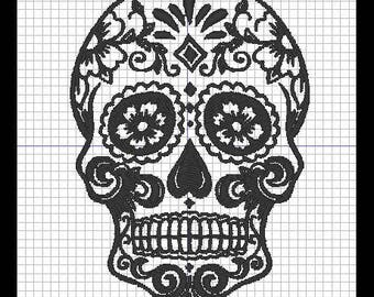 MEXICAN SKULL (set of 3) embroidery design