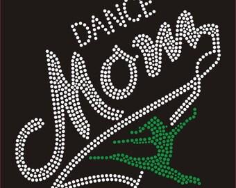 Dance mom rhinestone t-shirt