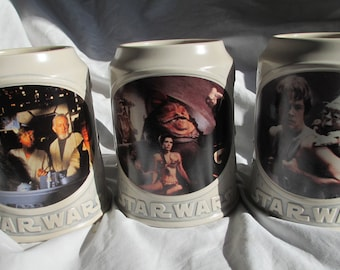 Large Vintage Star Wars Mug Set by Dram Tree