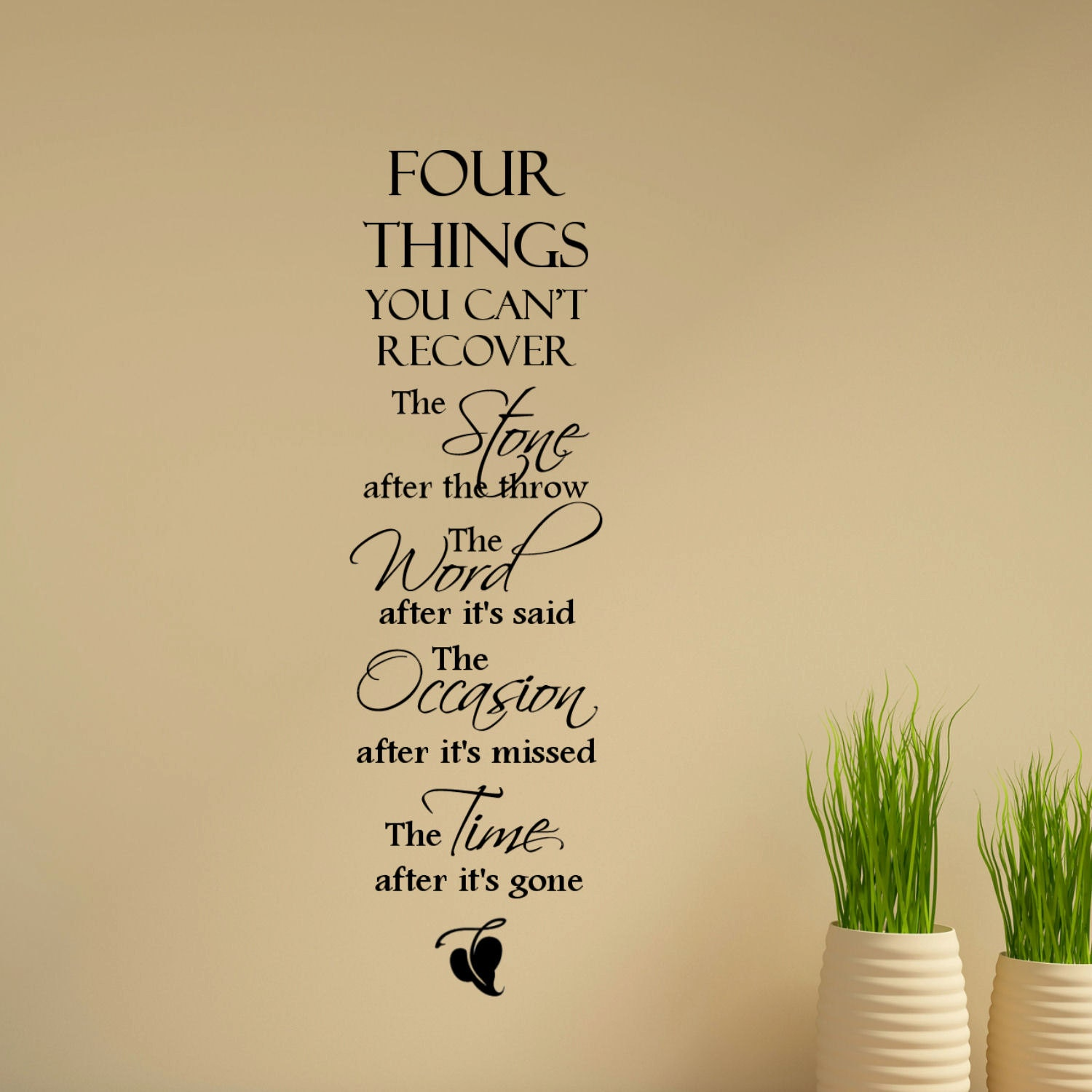 Four Things You Cant Recover The Stone After the Throw The