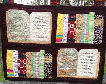 Book Lover Quilted Wallhanging